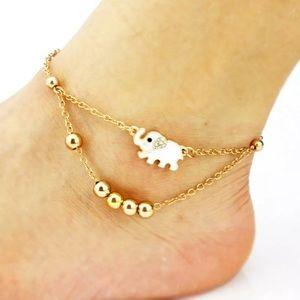 Gold Elephant Anklet